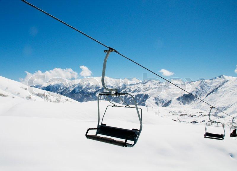 ski lift chair ski lift chairs on bright