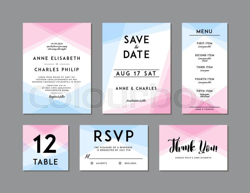 Modern Wedding Set template. Modern ... | Stock vector | Colourbox