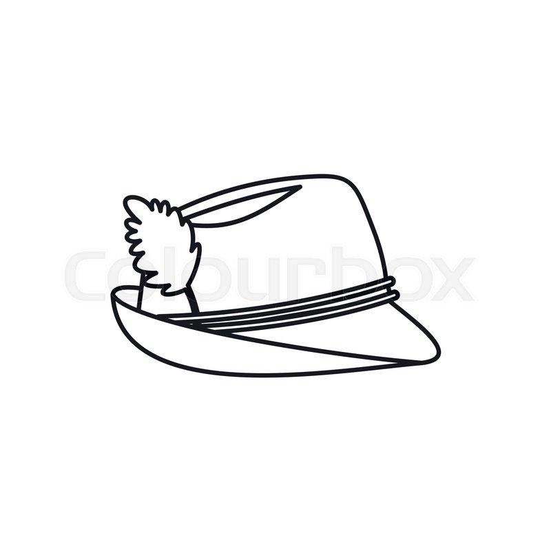 a3ce7d27e5f Oktoberfest tirol hat in outline style ...