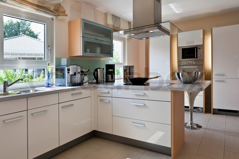 Modern House, Interior Of Modern Kitchen Room