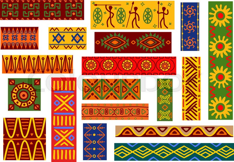 African ethnic ornaments with tribal and national patterns of Best African Patterns