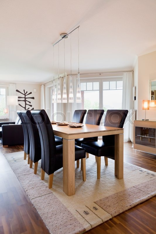 modernes haus interior of modern kitchen room stockfoto. Black Bedroom Furniture Sets. Home Design Ideas