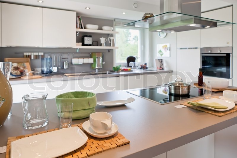 modern house interior of modern kitchen room - Modern House Interior Kitchen