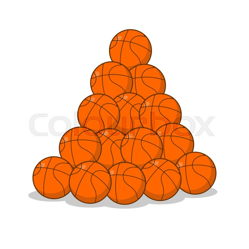 Pile Of Basketballs