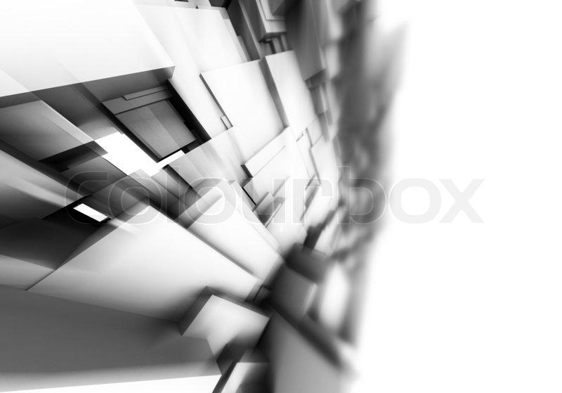 3d architektur design auf wei em hintergrund stockfoto. Black Bedroom Furniture Sets. Home Design Ideas