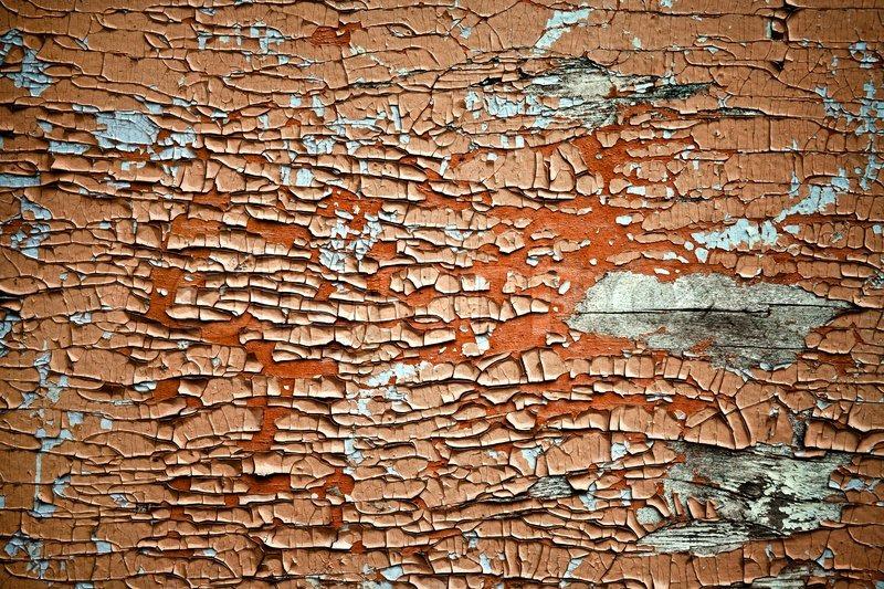 Water Damaged Paint on Wood, stock photo