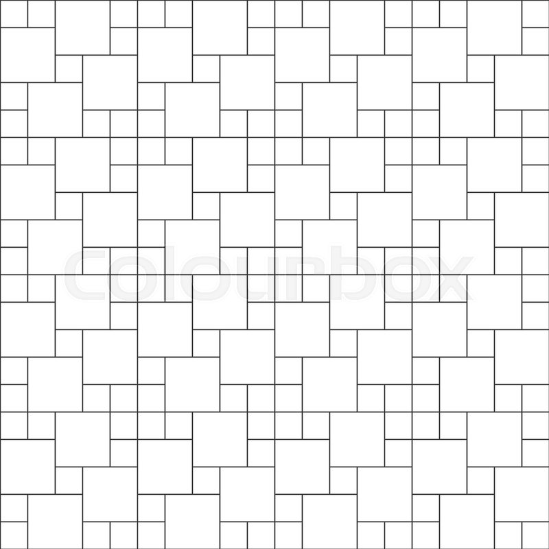 Set Of Thin Line Seamless Pattern Brick Tile Multi Pin Wheel Use