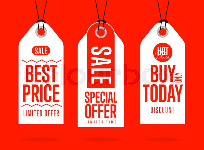 sale tag vector isolated sticker with special