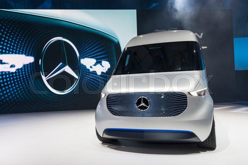 Hannover, Germany - Sep 23, 2016: Mercedes Benz Vision Van ...