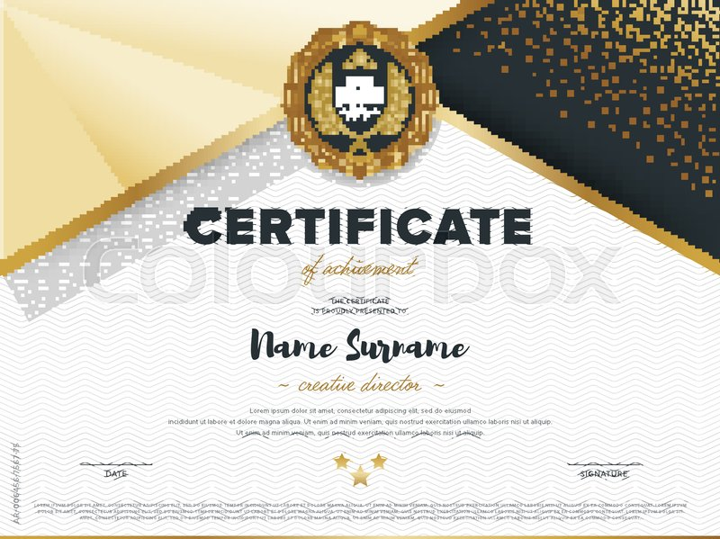 Certificate Vector Template Diploma Design Graduation Achievement