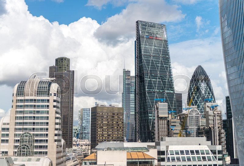 Skyscraper Business Office, Corporate building in London City, England, UK, stock photo