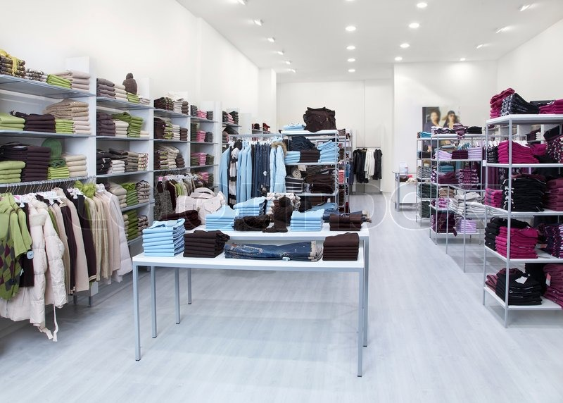 interior of shop of clothes stock photo colourbox On designerstà hle outlet