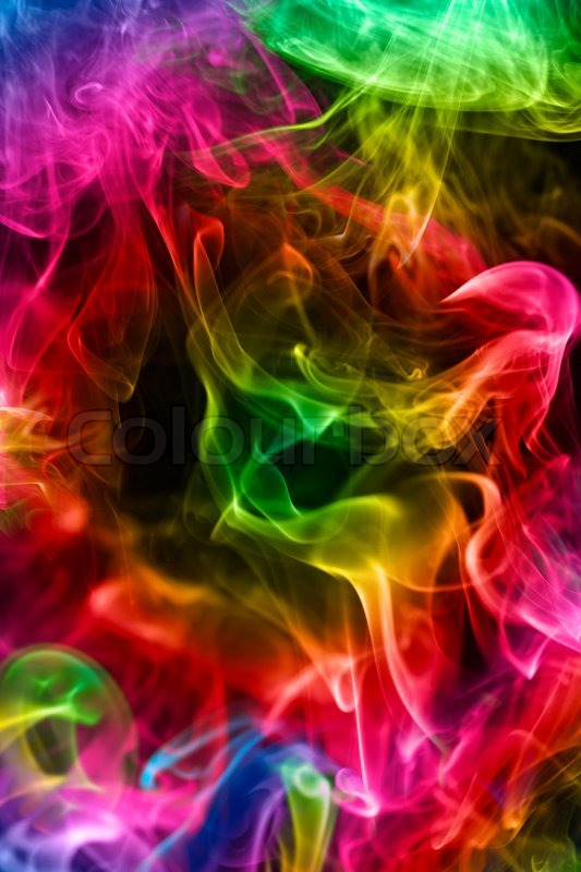 Multi-coloured smoke o... Light Colourful Backgrounds