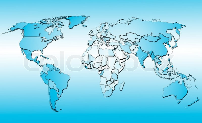World map with all countries blue background stock photo world map with all countries blue background stock photo colourbox gumiabroncs Gallery