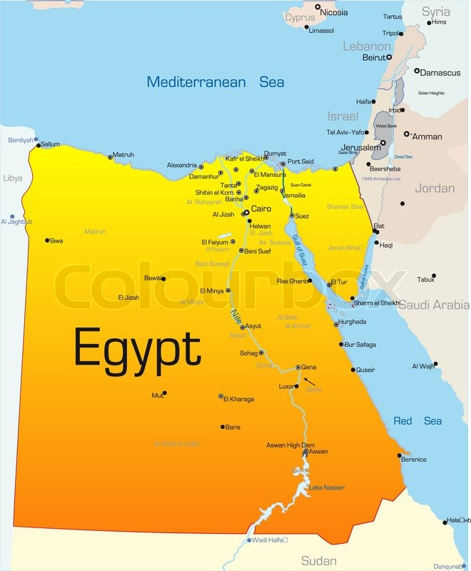 Country, map, egypt | Vector | Colourbox