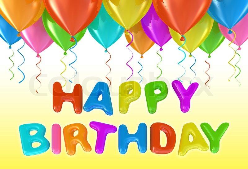 Image of 'Happy birthday Helium ballons concept'