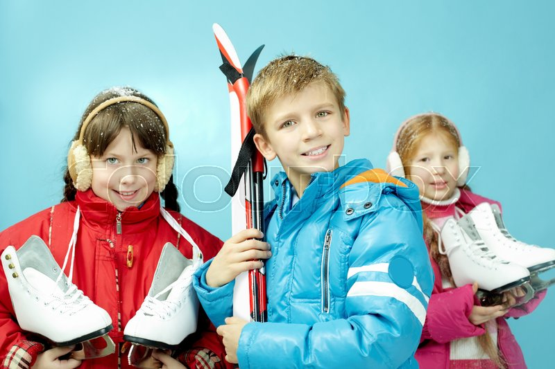 Stock image of 'Skates and skis'