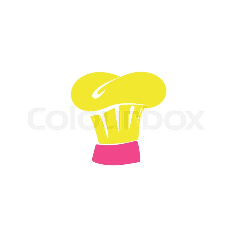 Chef Hat Icon Vector Flat Simple Color Pictogram