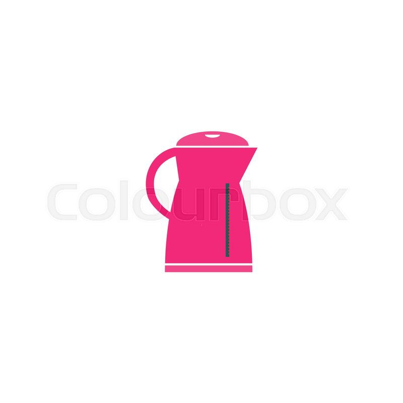 Electric Kettle Icon Vector Flat Simple Color Pictogram Stock Vector Colourbox