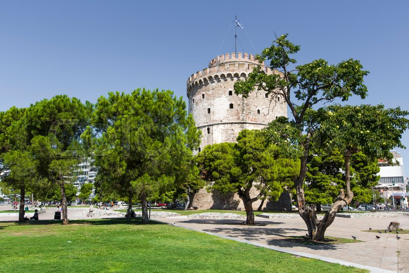 Stock image of 'White Tower of Thessaloniki in Greece\\ '