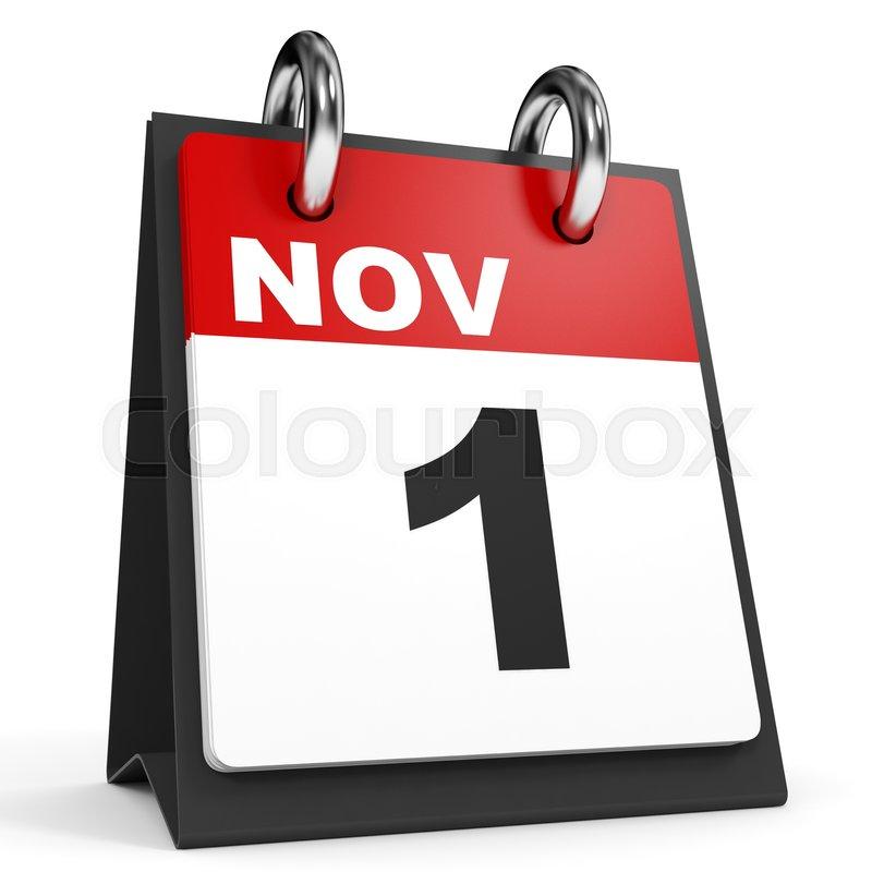 Calendar Illustration Jobs : November calendar on white background d illustration