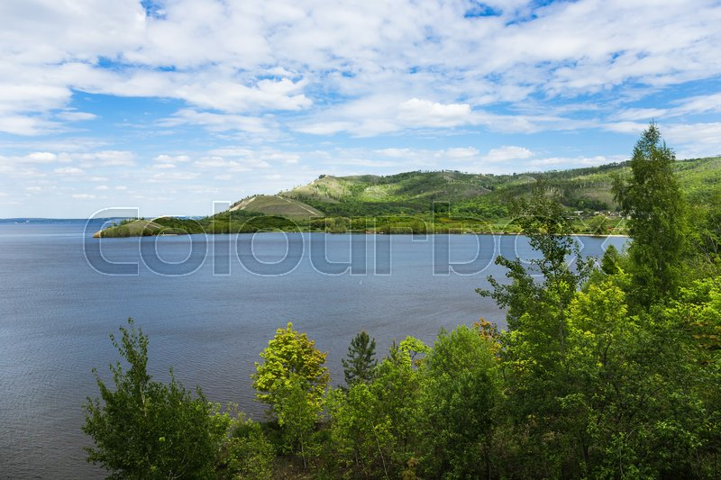 Stock image of 'River valley in the countryside'