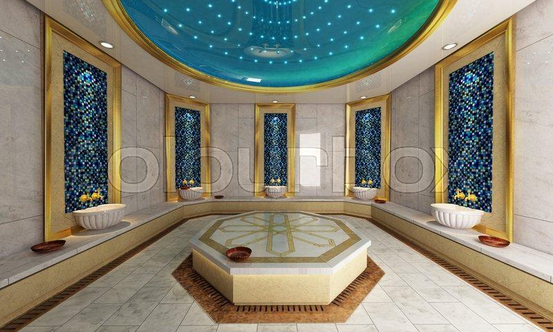 modern turkish bath 3d design and rendering stock photo colourbox - Modern Trkis