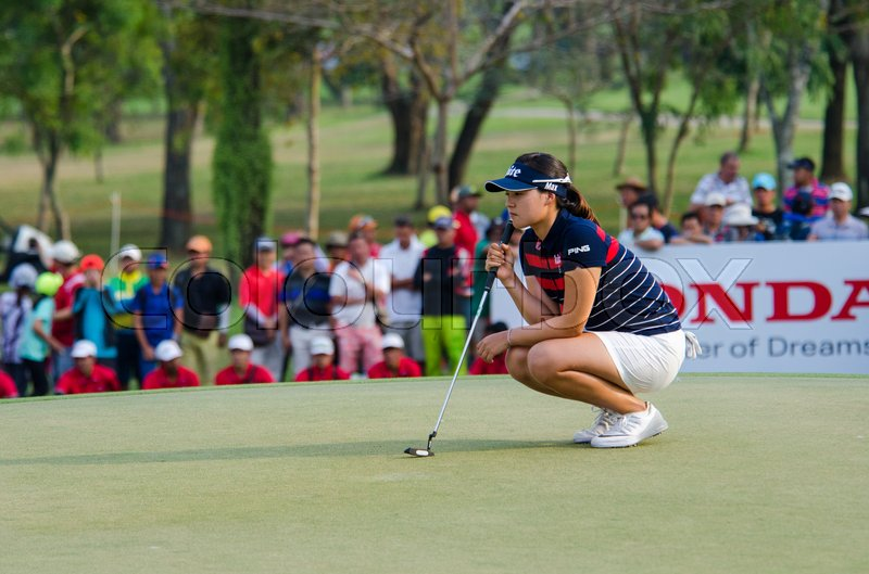 Editorial image of 'CHONBURI - FEBRUARY 28 : In Gee Chun of South Korea in Honda LPGA Thailand 2016 at Siam Country Club, Pattaya Old Course on February 28, 2016 in Chonburi, Thailand.'