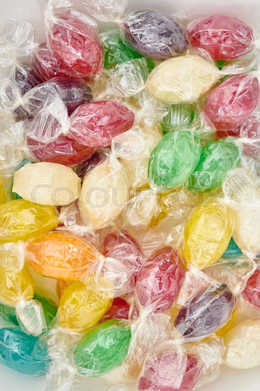 Stock image of 'A studio photo of fruit drop candies'