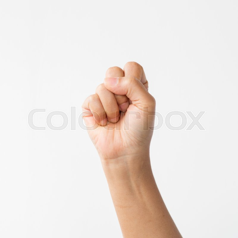 Stock image of 'Hand on white background'