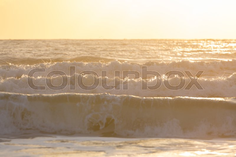 Stock image of 'beautiful sea with sunlight in the morning day, holidy trip background'