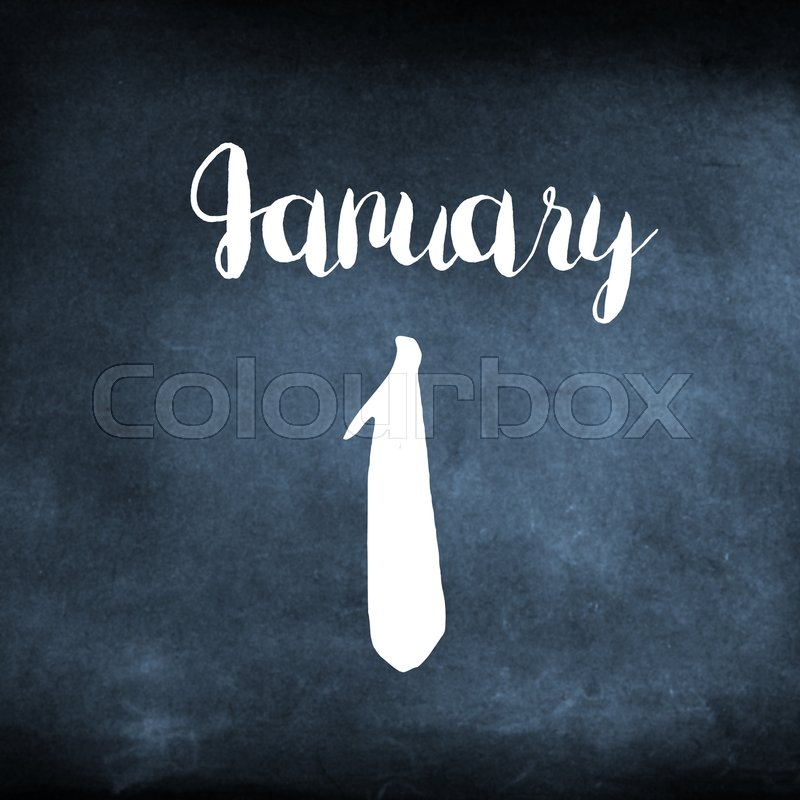 Stock image of 'January 1 concept'