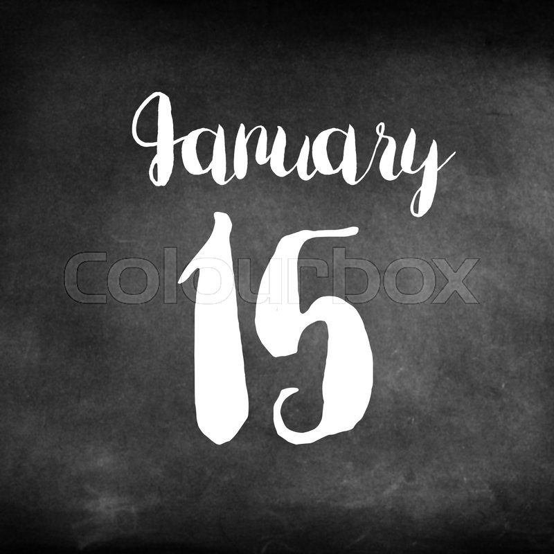 Stock image of 'January 15 concept'