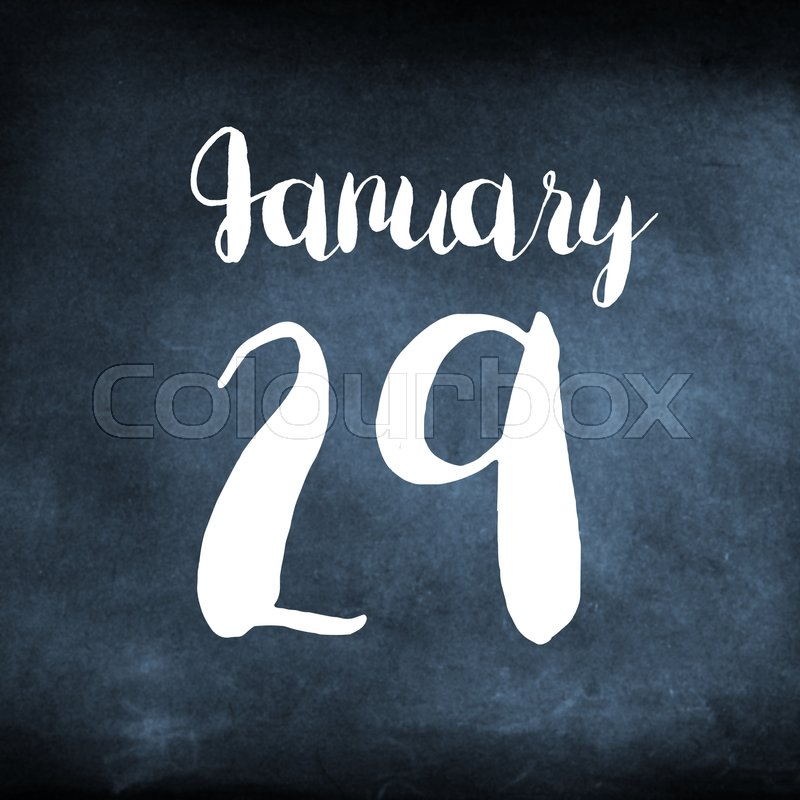 Stock image of 'January 29 concept'