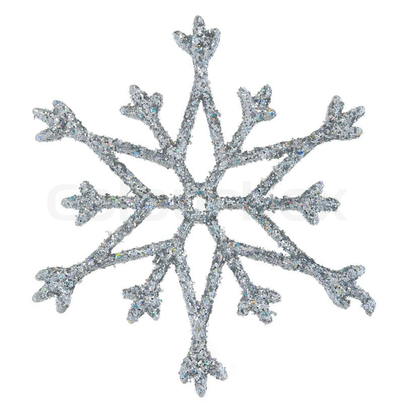 Stock image of 'Snowflake photo on a white background'