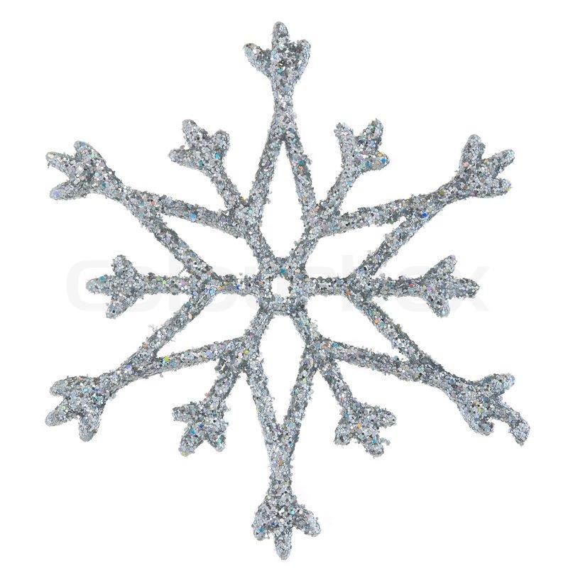 snowflake photo on a white background stock photo colourbox. Black Bedroom Furniture Sets. Home Design Ideas