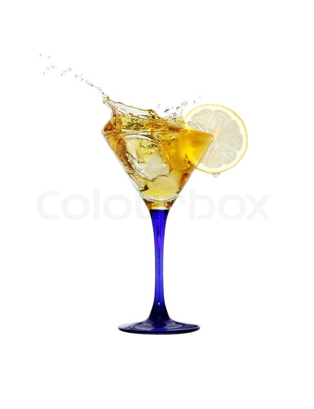Sprøjt cocktail med is og citron ... | Stock foto | Colourbox
