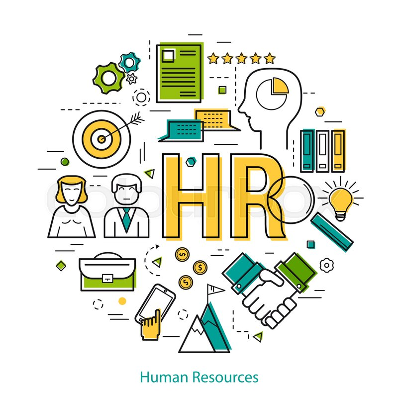 Vector Round Concept Of Human Resource Stock Vector