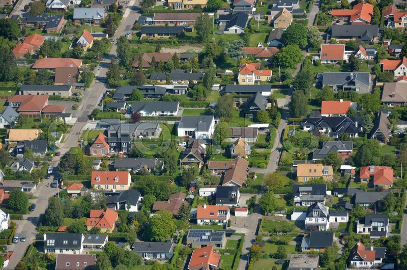 Stock image of 'aerial, hus, privat'