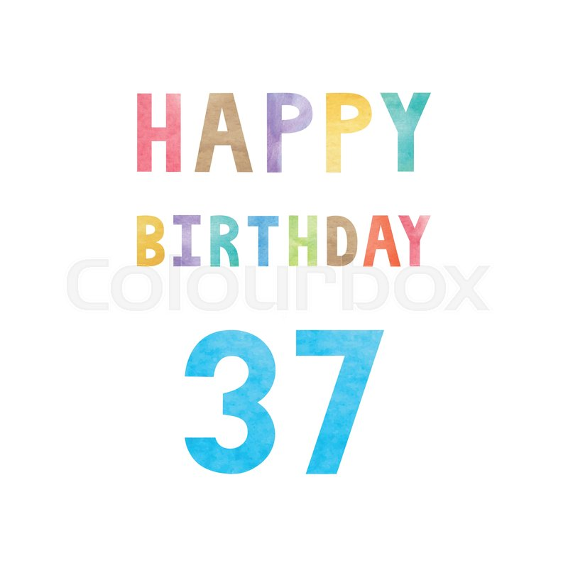 Happy 37th Birthday Anniversary Card