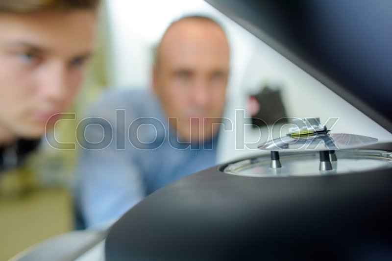 Stock image of 'Lense in the machine'