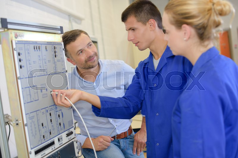Stock image of 'Testing the future electricians'