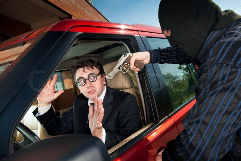 Sell My Car For Cash >> Robbery of the businessman in its car | Stock Photo | Colourbox