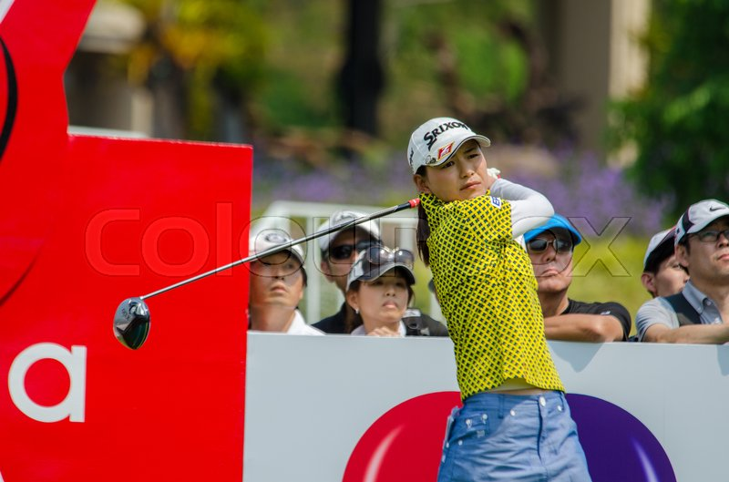 Editorial image of 'CHONBURI - FEBRUARY 27: Sakura Yokomine of Japan in Honda LPGA Thailand 2016 at Siam Country Club, Pattaya Old Course on February 27, 2016 in Chonburi, Thailand.'