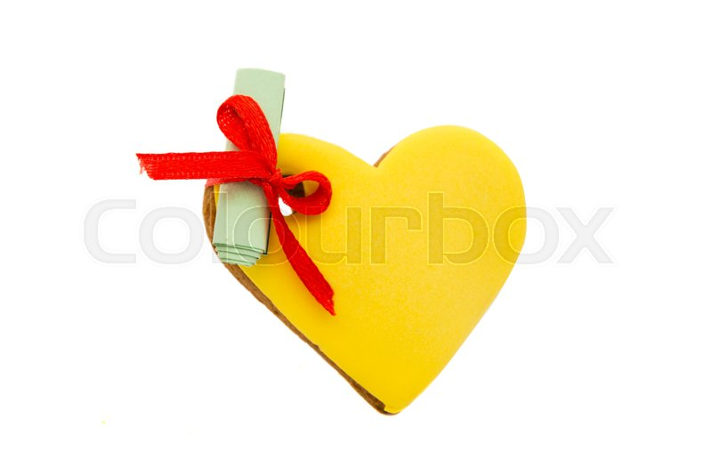Stock image of 'Christmas cookies heart on a white background'
