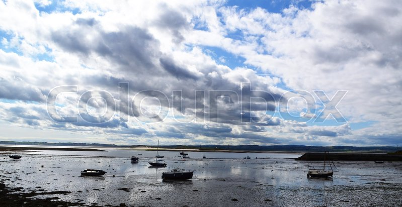 Stock image of 'A peaceful image from the holy island of Lindisfarne.'