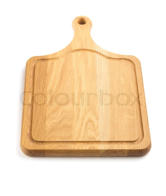 Stock image of 'cutting board isolated  on white background'