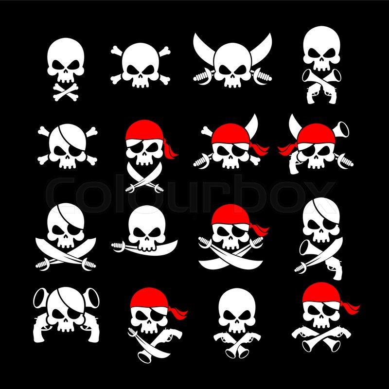jolly roger pirate flag skull and crossbones skeleton head in
