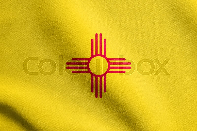 New Mexican Official Flag Symbol American Patriotic Element Usa