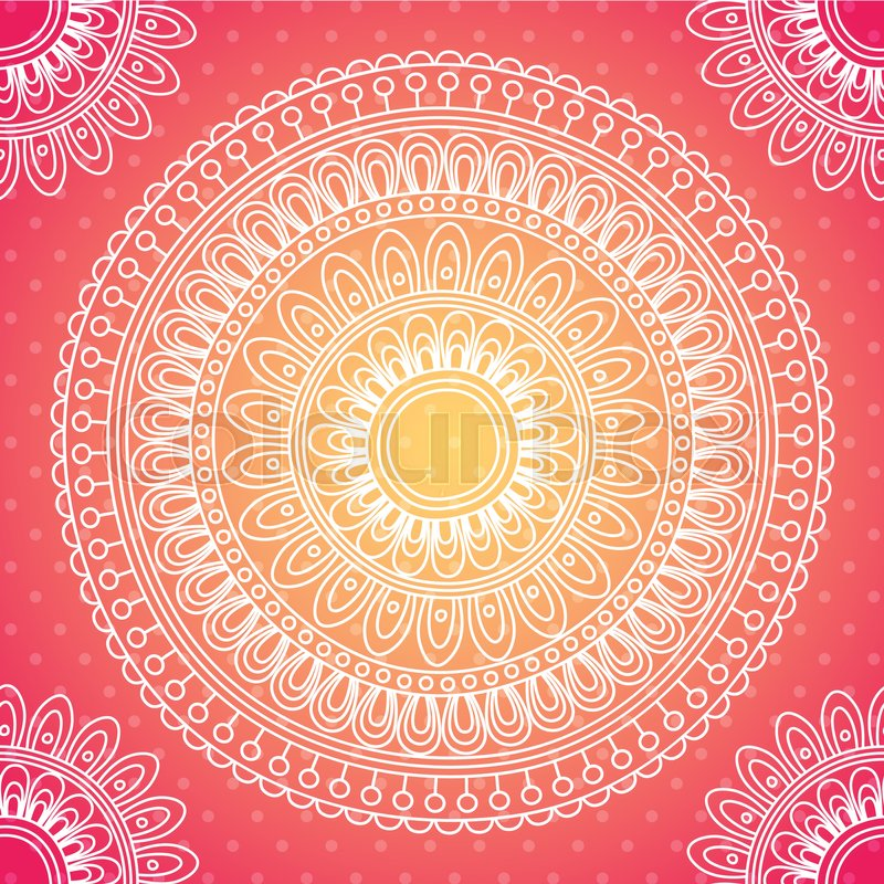 Background in Indian style with paisley pattern and